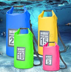 Sello ultraligero Rafting Bolsa portátil de tubo de la bolsa impermeable para al aire libre Senderismo Rafting Natación Kits Bolsas de almacenamiento en seco 5L / 10L / 15L / 20L / 30L