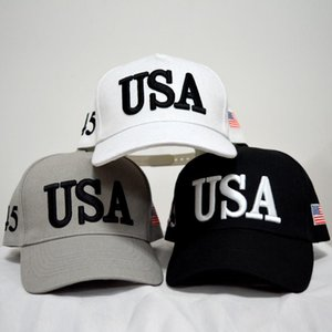 Wholesale-Snapback Sports Hats Fitted Baseball Caps USA Flag Mens Womens Fashion Adult Adjustable Donald Trump Hat Cotton Cap