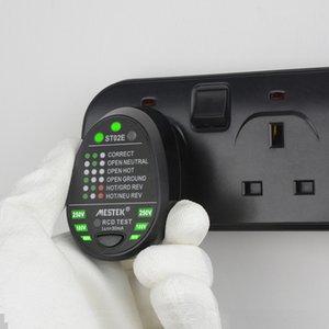 Cargador de enchufe de pared del probador Enchufe de corriente polaridad de fase del detector de fugas de Protección probador enchufe de Reino Unido