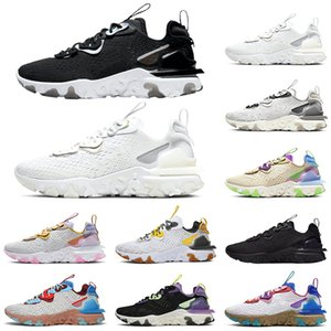 Top React Vision Element 87 55 Mens Trainers Running Shoes Black Iridescent Men Women Designer Sports Sneakers Size 5.5-11