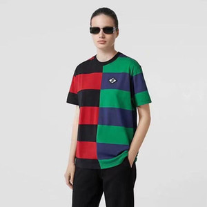 2020 Top Quality Fashion brand New Color box logo Crew Neck T-shirt Summer New Men Women Tee Hip Hop Casual T-shirt