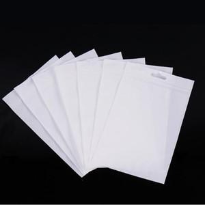 5000pcs / lot klar + weiße Plastiktüte Zipper Kleinpaket für Datenkabel Kfz-Ladegerät Handy-Zubehör Verpackungsbeutel Europa-großes Loch