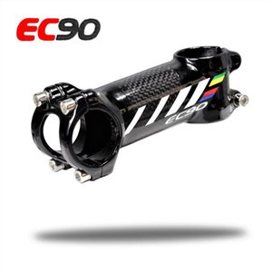 2017 nuevo EC90 aluminio + elevador / varilla de fibra de carbono Vástago Fibra de carbono sin escamas Bicicleta ultraligera Vástago mango de carbono 28.6-31.8MM