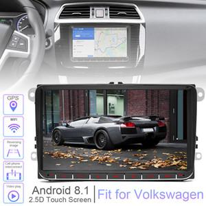 Volkswagen VW CMO_23O için 2 DIN 9 İnç DÖRTLÜ çekirdekli Android 8.1 Araç MP5 GPS Navi Oyuncu Destek Bluetooth PhoneLink'i WIFI CarLife Fit