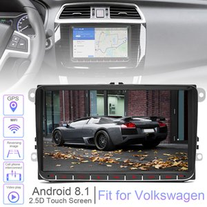 2 DIN 9 polegadas quad-core Android 8.1 Car MP5 Suporte GPS Navi Jogador Bluetooth Phonelink WIFI Carlife Fit para Volkswagen VW CMO_23O