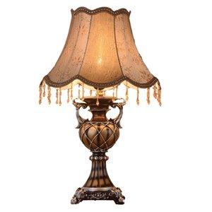 بسيطة غرفة نوم وغرفة معيشة عداد المصباح الأوروبية النسيج الرجعية مصباح طاولة السرير