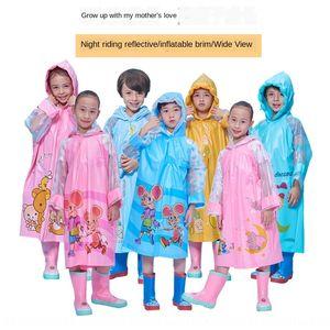 63SU5 los niños de jardín de infancia y de la mujer mono engrosada impermeable inflable ala con la cartera de libre Body Bag ropa vestir cuerpo Capa