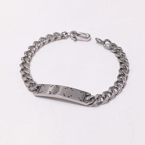 arco viso titanio acciaio braccialetti di fascino di amore degli uomini piazza cranio lettera G braccialetti di modo Pulseiras gioielli
