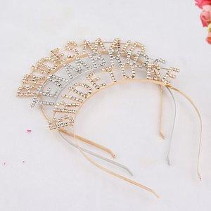 Teambrtde Bridetobe Hair Hoop 18 Años Europa y América Nuevo Patrón Señora Carta Cabeza Aro Aleación Moda Sombreros Venden bien 6yc p1