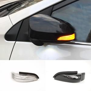 2 piezas de ámbar intermitente secuencial Indicador lado espejo señal de vuelta de luz para Toyota CAMRY COROLLA YARIS VENZA Car Styling