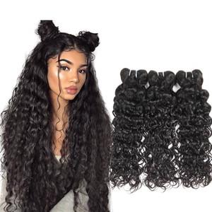 ISHOW Human бразильская волна воды выдвижения волос Оптовая 8a Необработанные перуанский Wet И Weavy Vrigin Человеческие Пучки волос