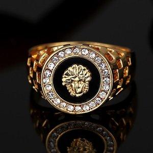 Hot sale mens top ring fashion hip pop Head Medusa Gold Color silver Black men Finger ring for men women