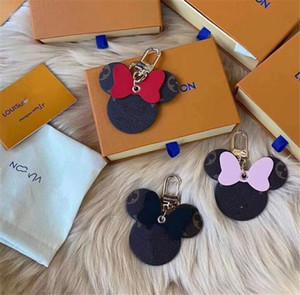 Diseñador del Año de la rata unisex de lujo llavero monedero colgante Bolsas Coches Cadenas Anillos clave para las mujeres de piel de ratón Llaveros ninguna caja