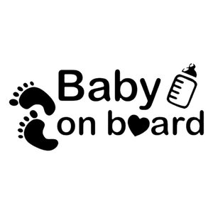 16 * 7.2 cm BABY ON BOARD Decor Decals Funny Car Window Novelty Jdm Drift Vinyl Decalacter