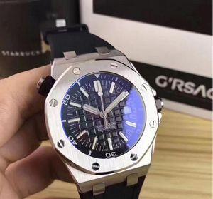 Los hombres grandes Venta de relojes de 42 mm reloj de la maquinaria automática barrer reloj falso movimiento reloj relojes 77