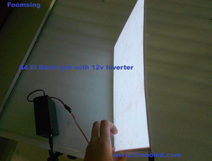 A4 Size For Uv EL Backlight Sheet White Color Panel 12 V Inverter
