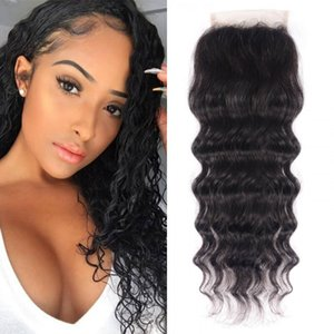 TKWIG new arrival free part natural wave hair lace closure human hair for african american women