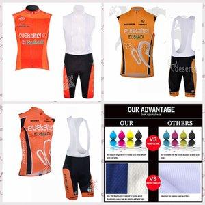 EUSKALTEL team Summer Men cycling sleeveless jerseys vest bib shorts sets breathable Ropa Ciclismo Mtb Bike Sportswear E61859