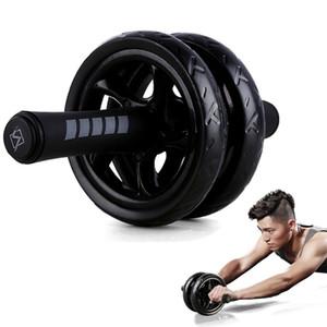 New Fit Roues Non Keep bruit roue abdominale Ab Rouleau avec tapis pour l'exercice Fitness Equipment