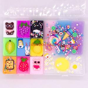 535g Fluffy Schaum Slime-Kugel-Zubehör DIY-Licht-weicher Baumwolle Anhänger Slime Obst Kit Kinder Spielzeug Anhänger Knetmasse Gum Polymer