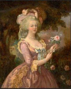 Retrato da rainha Marie Antoinette da França Handpainted HD Imprimir Wall Art Oil pintura em tela multi Tamanhos