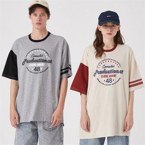 2020 Мужские Женские дизайнерские футболки Модные мужские женщин летние Tshirts Марка Короткие рукава Щитовые Увеличенные Tshirts Весна Рубашки 2051101V