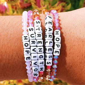 VSCO فتاة رسالة الخرزة سوار VSCO الصداقة وشجاع ملون مطرز أساور الأمل صدق رسالة مكعب حبة الأساور جديدة