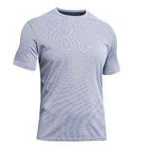 Sport T-shirt vêtements fitness formation masculine marathon d'été à manches courtes respirant séchage rapide tissu mesh extérieur courir T-shirts tees