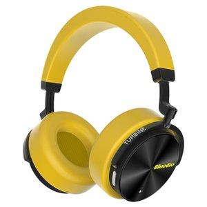 전화와 음악에 대한 마이크 Bluedio T5 능동형 소음 취소 무선 블루투스 헤드폰 휴대용 헤드셋