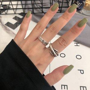 925 Sterling Silver Ring ретро Минималистский женщин римские цифры Ins-Open Ring-Style Личность Мужская Женская одежда Аксессуары