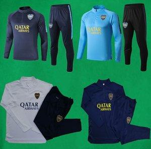 20 21 Boca Juniors спортивный костюм мужской футбольный спортивный костюм с полным рукавом футбольный тренировочный костюм 19 20 Boca толстовка и брюки DE ROSSI Tevez наборы