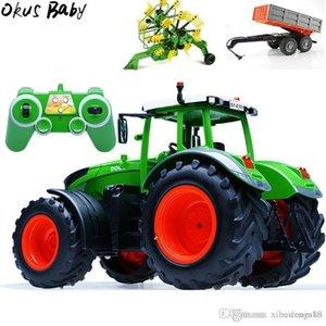 RC reboque do caminhão basculante Colheita 4 Wheel RC Tractor 2.4G remotos presentes controlo do tractor Engenharia Modelo Veículos brinquedos para as crianças