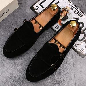 A nova jaqueta de ouro da moda e dedos dos pés de metal dos homens sapatos de couro lixado sapatos italianos sapatos masculinos feitos à mão sapatos casuais c26