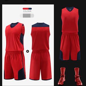 mode-personnalisé de basket-ball costume collège Sport Costume Adulte Costume Personnalisé Nom et nombre de basket-ball chemise et shorts au détail en gros