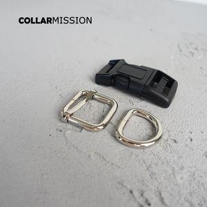100pcs / lot (release buckle+metal adjust buck+D ring / set) plastic safety quick release bink 20mm webing sequencing diy inseruction