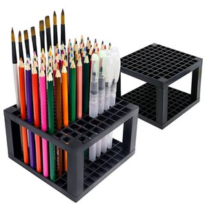 96 Slots Pencil Holder - Desk Stationary Standing Organizer Holder, Perfect for Pen Pencil, Paint Brush, Gel Pen, and More (2 Pa