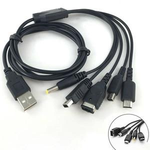 Cable de carga USB para juegos de 115 cm para NDS Lite / Wii U / New 3DS XL LL 2DS para GBA SP / PSP 1000 2000 3000 Cables de cable de cargador
