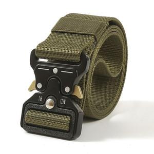 Cintura in vita Formazione Tactical Nylon Belt Fibbia in metallo regolabile dell'esercito Heavy Duty esterna Quick Release caccia
