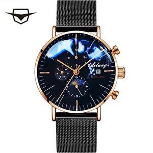 Ailang мужская Механическая Автоматическая Мода Лучший Бренд Спортивные Часы Tourbillon Moon Phase Часы Из Нержавеющей Стали Мужской Часы Y19052103