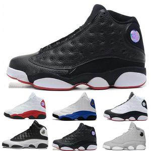 Top 13 13s Мужские баскетбольные кроссовки Bred Flints Respect Черно-серый терракотовый румянец Чикагская кошка Черные кроссовки Баскетбольная обувь Размер 13