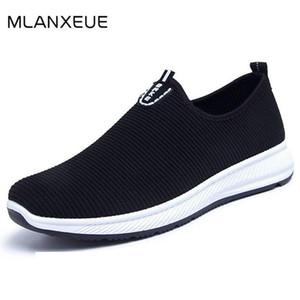 MLANXEUE Mode Mesh respirant Hommes Chaussures antidérapants en caoutchouc Sole Chaussures Homme 2019 Eté Automne Taille Plus 39-44 Homme Noir