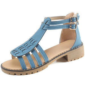 Sexy2019 Second Posimi Sandals Fasciola Group Combina scarpe da donna a fondo piatto Summer Will 40-43 Code X - 819