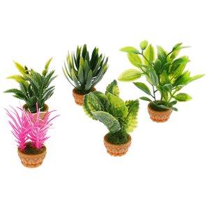 DIY Dollhouse Micro Landscape Garden Potted Plant Flower Boxes Plants Decoration Accessories Model