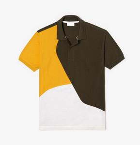 2020 verano nuevo color de contraste empalme camisa de polo de los hombres de moda de la manga corta camisas sport para hombre clásica camiseta polos diseñador de los hombres