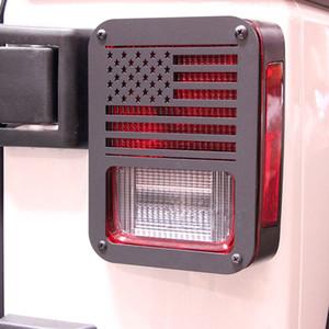 2 piezas de luz trasera trasera protector de la cubierta de la bandera de EE.UU. EE.UU. Para 2007-2016 Jeep Wrangler AK