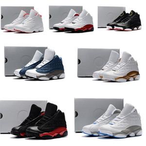 Nike air jordan 13 retro  رخيصة أطفال 13 ثانية منخفضة كرة السلة أسود برتقالي أحمر الطين الفتيان الفتيات الشباب أطفال J13 jumpman 13 xiii حذاء طفل التمهيد