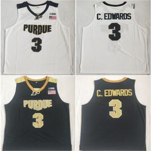 Carsen Edwards Jersey di pallacanestro di Purdue Boilermaker # 3 C.Edwards cucita Camicie NCAA College Basketball Maglie Università S-XXL