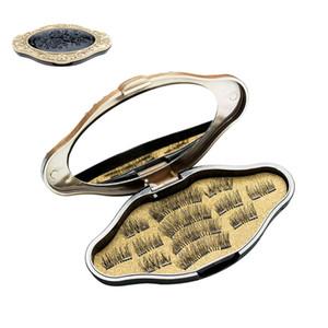 Maquillage en vison magnétique 3D cils magnétiques aimant faux cils Dual Triple aimant cils ultra minces réutilisables faux cils NO COLLE