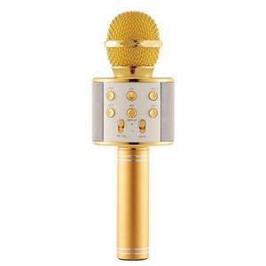 El micrófono de karaoke inalámbrico portátil de altavoces Bluetooth Canto del hogar KTV del reproductor de música portátil Mic para el teléfono de Andriod Ios