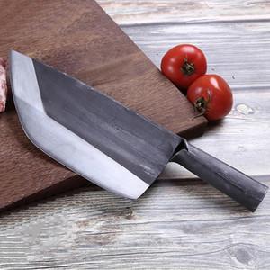 Paslanmaz Çelik El Yapımı Dövme Kasap Bıçağı Çin Bıçak Doğrama Kasap Bıçak Et Balta Mutfak Şef Bıçaklar